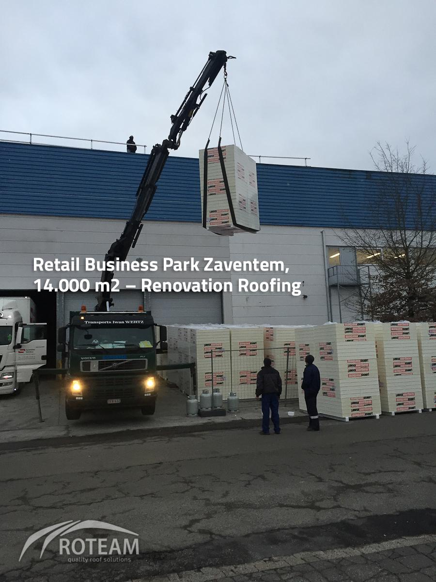 Retail Business Park Zaventem Roofing